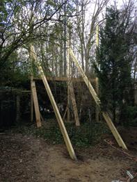 Support en bois 3 x 4 m
