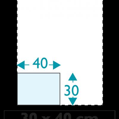 1 exemplaire - 30 x 40 cm - Recto - sans œillet - ép : 3,5 mm