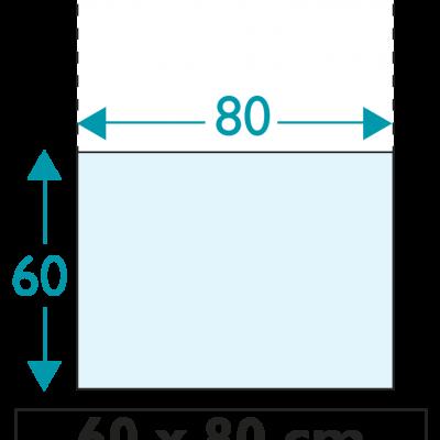 1 exemplaire - 60 x 80 cm - Recto / Verso - sans œillet - ép : 3,5 mm