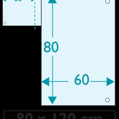 30 exemplaires - 120 x 80 cm - Recto / Verso - 4 oeillets - ép : 3,5 mm + RAINURAGE
